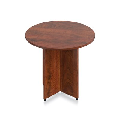 Luminary Series Circular Conference Table Finish: American Dark Cherry, Size: 29.5 H x 48 W x 48 D