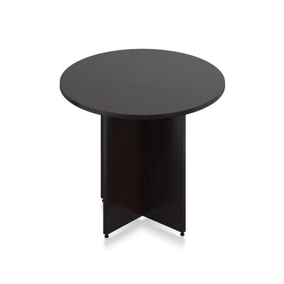 Luminary Series Circular Conference Table Finish: American Espresso Laminate, Size: 29.5 H x 36 W x 36 D