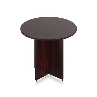 Luminary Series Circular Conference Table Finish: American Mahogany Laminate, Size: 29.5 H x 36 W x 36 D
