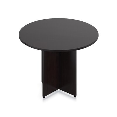 Luminary Series Circular Conference Table Finish: American Espresso, Size: 29.5 H x 48 W x 48 D