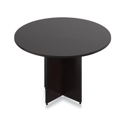 Luminary Series Circular Conference Table Size: 4 L, Finish: American Espresso