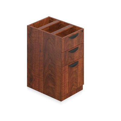 28 H x 15 W Desk File Pedestal Pedestal: 2 Drawers and 1 File, Finish: American Cherry