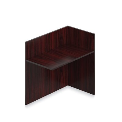 41 H x 42 W Left Desk Return Finish: American Mahogany