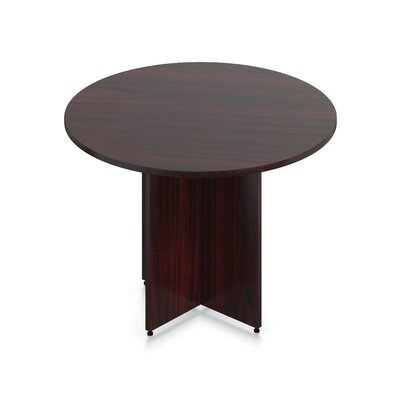 Luminary Series Circular Conference Table Finish: American Mahogany, Size: 29.5 H x 48 W x 48 D