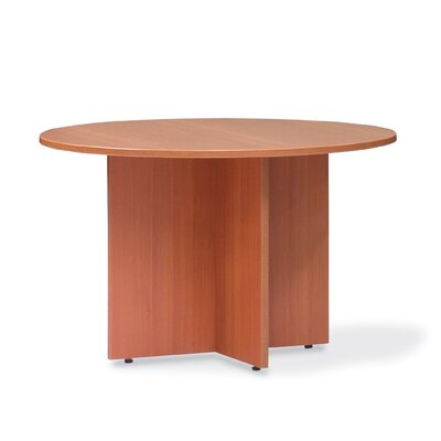 Luminary Series Circular Conference Table Finish: American Cherry Laminate, Size: 3 L