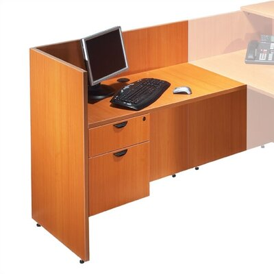 41 H x 42 W Left Desk Return Finish: American Cherry