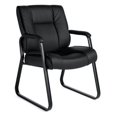 Stack and Sled Base Leather Guest Chair