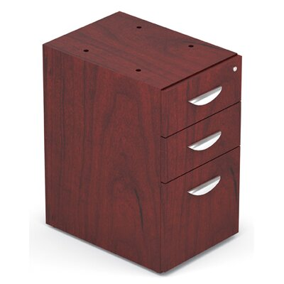 Ventnor 28 H x 15.5 W Desk File Pedestal Finish: Cordovan