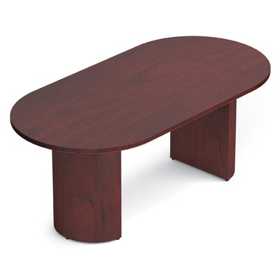 Ventnor 6 Oval Conference Table Finish: Cordovan, Size: 6 L