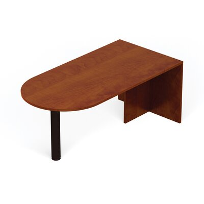 29.5 H x 71 W Desk Peninsula with Full End Panel and Post Color: American Dark Cherry
