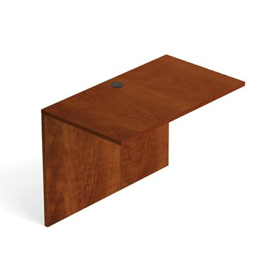 29.5 H Desk Bridge Size: 42 W, Finish: American Dark Cherry