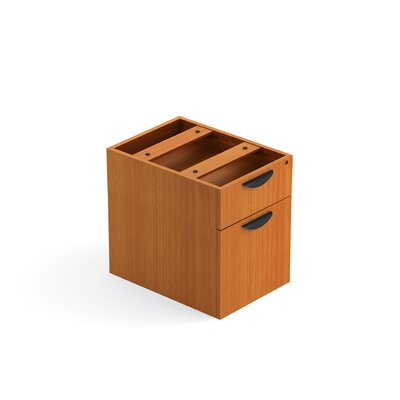 19 H x 16 W Desk File Pedestal Finish: American Cherry