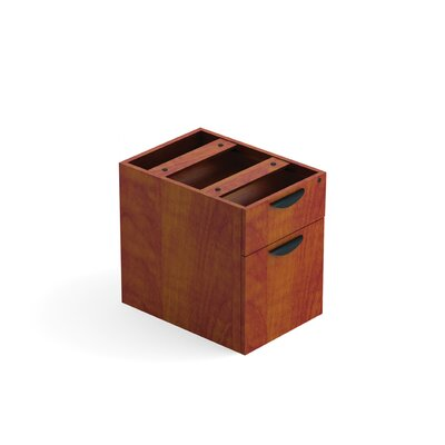 "19"" H X 16"" W Desk File Pedestal Finish: American Dark Cherry"