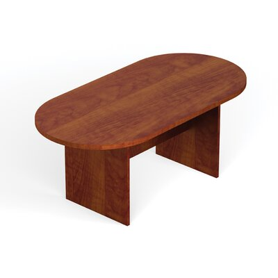 Superior Oval Conference Table Size: 10 L, Finish: American Cherry