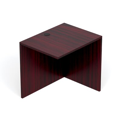 Reversible 29.5 H Desk Connector Return Width: 30 W, Finish: American Mahogany