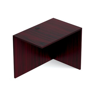 Reversible 29.5 H Desk Connector Return Width: 36 W, Finish: American Mahogany
