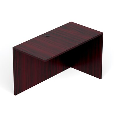 Reversible 29.5 H Desk Connector Return Width: 48 W, Finish: American Mahogany