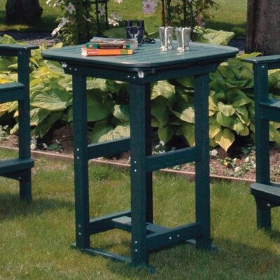 Portsmouth Outdoor Bar Table Finish: Gray, Table Size: 30