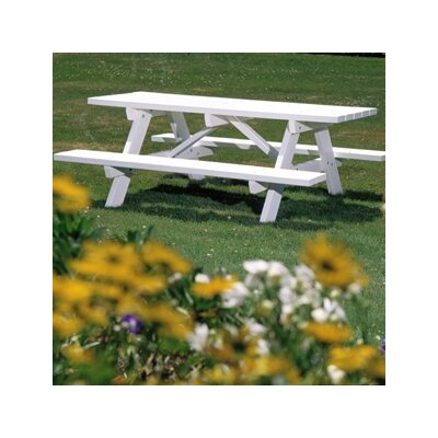 Picnic Table Bench Grey - Product photo