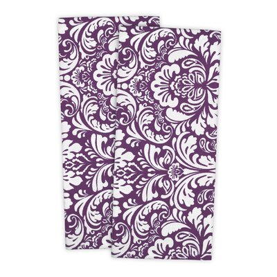 Damask Cotton Dishtowel Color: Egg Plant