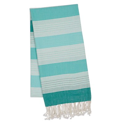 Stripe 2 Piece Towel Set Color: Teal