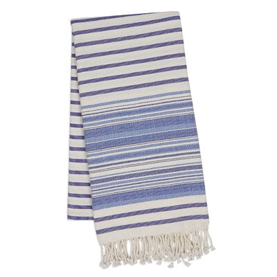 Stripe Fouta Towel Color: Indigo