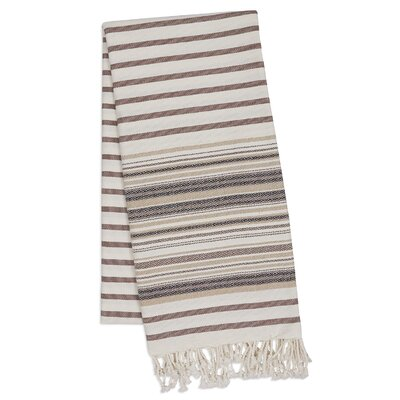 Stripe Fouta Towel Color: French Taupe