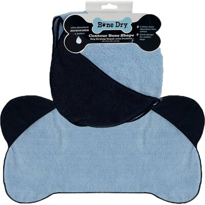 Microfiber Pet Towel in Blue
