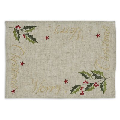 """Merry Christmas"""" Embroidered Placemat"""