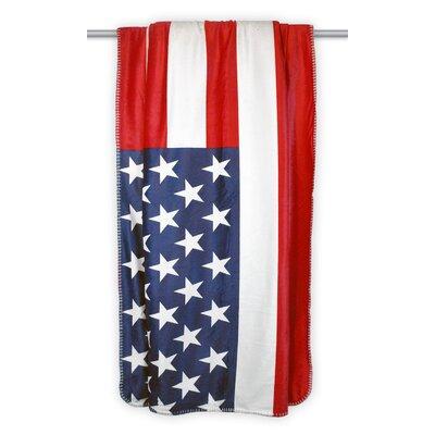 Allister USA Flag Sherpa Throw