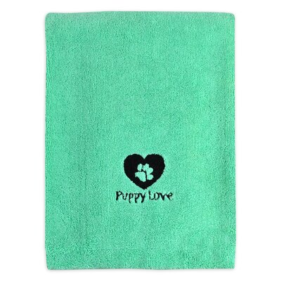 Embroidered Puppy Love Pet Bath Towel