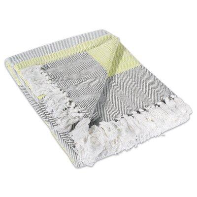 Arienne Stripe Herringbone 100% Cotton Throw