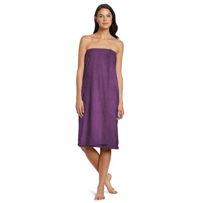 Shower Wrap Color: Eggplant