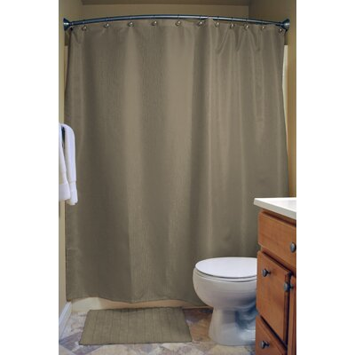 Skyler Bamboo Shower Curtain Color: Cool Brown
