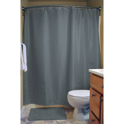 Skyler Bamboo Shower Curtain Color: Stone Blue