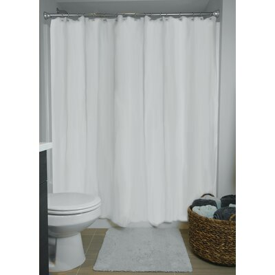 Liner Vinyl Shower Curtain Color: White