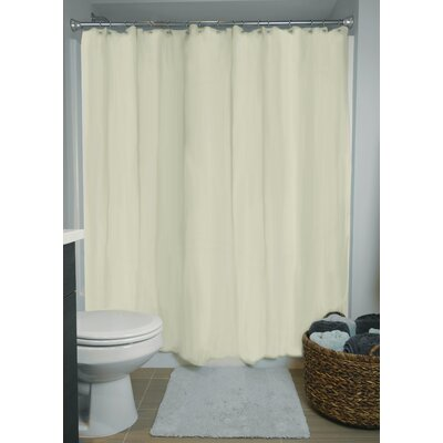Liner Vinyl Shower Curtain Color: Cream