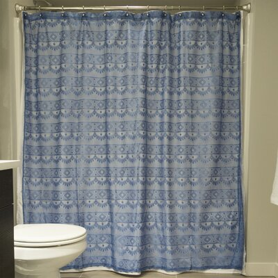 Camile Lace Shower Curtain Color: Blueberry