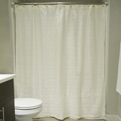 Camile Lace Shower Curtain Color: Off-White