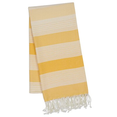 Stripe 2 Piece Towel Set Color: Yellow