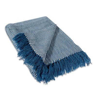 Belmont Luxury Throw Color: Blue Chevron