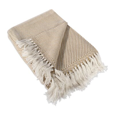 Belmont Luxury Throw Color: Taupe Chevron