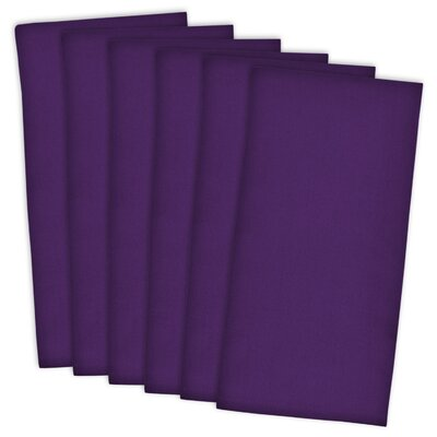 Flat Woven Cotton Dishtowel Color: Neon Purple