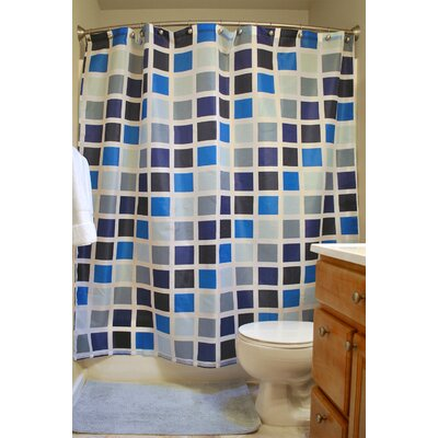 Karli Mosaic Tiles 16 Piece Shower Curtain Set
