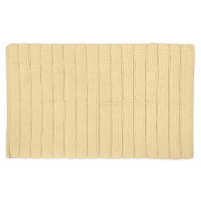 Haverstraw Ribbed Bath Rug Color: Cream, Size: 17 W x 24 L