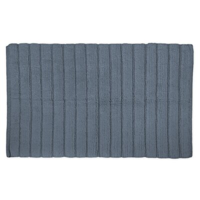 Haverstraw Ribbed Bath Rug Color: Stone Blue, Size: 21 W x 34 L