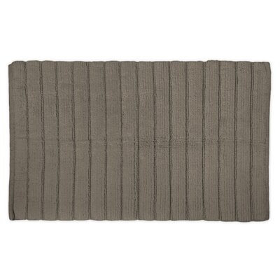 Haverstraw Ribbed Bath Rug Color: Cool Brown, Size: 21 W x 34 L