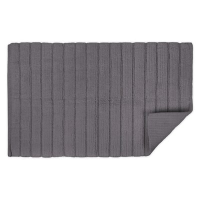 Haverstraw Ribbed Bath Rug Color: Gray, Size: 21 W x 34 L