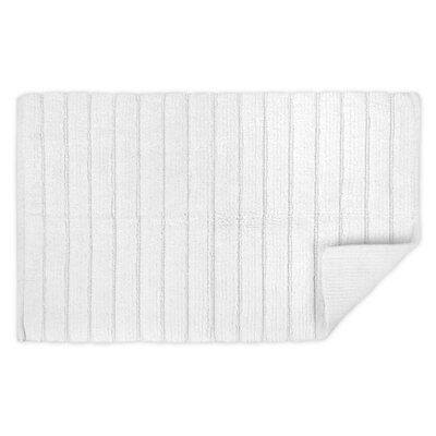 Haverstraw Ribbed Bath Rug Color: White, Size: 21 W x 34 L