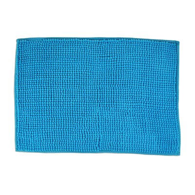 Sidney Popcorn Bath Rug Color: Neon Blue